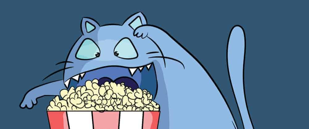 funny cat and popcorn e1584285825720