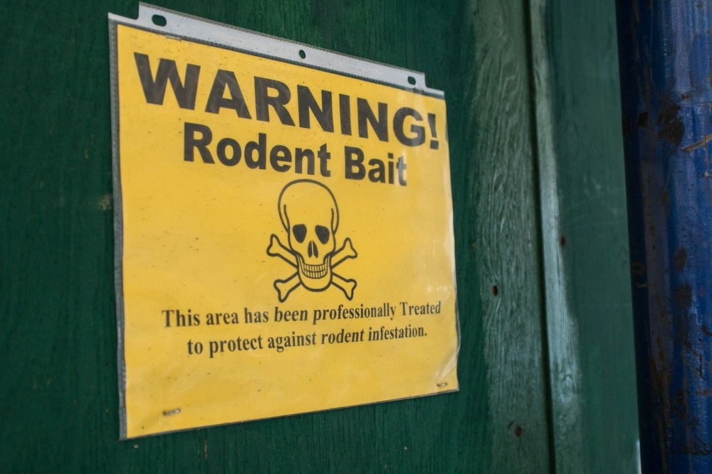 rat poison sign