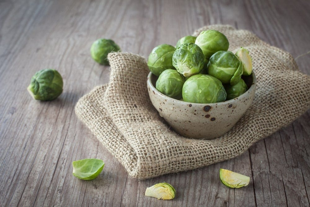 brussels sprouts in a plate