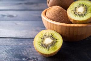 kiwi in a plate