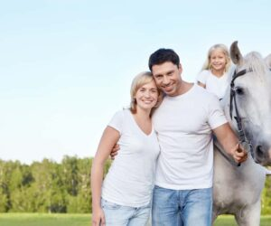 parents with horse