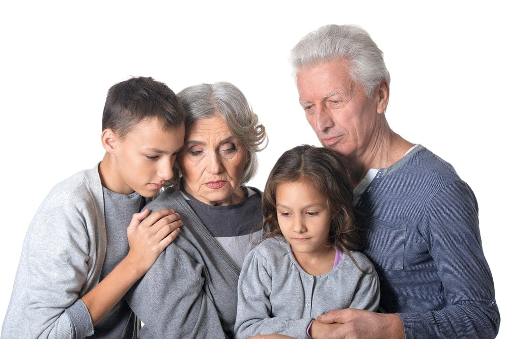 sad family