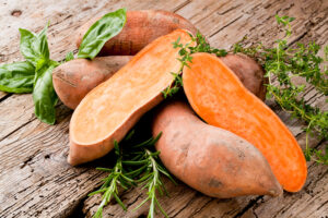 sweet potato on a table